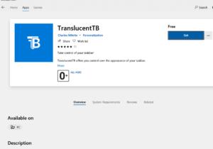 Как сделать Windows 10 прозрачной панель задач